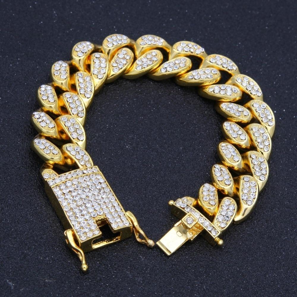 2cm hiphop ouro cor iced para fora