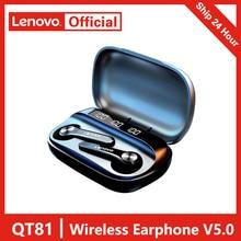 2021 Lenovo QT81 Tai Nghe Không Dây Tai Nghe Bluetooth 5.0 Âm Thanh Stereo Tai Nghe Nhét Tai Có Mic Giảm Ồn Dành Cho Xiaomi iPhone Samsung