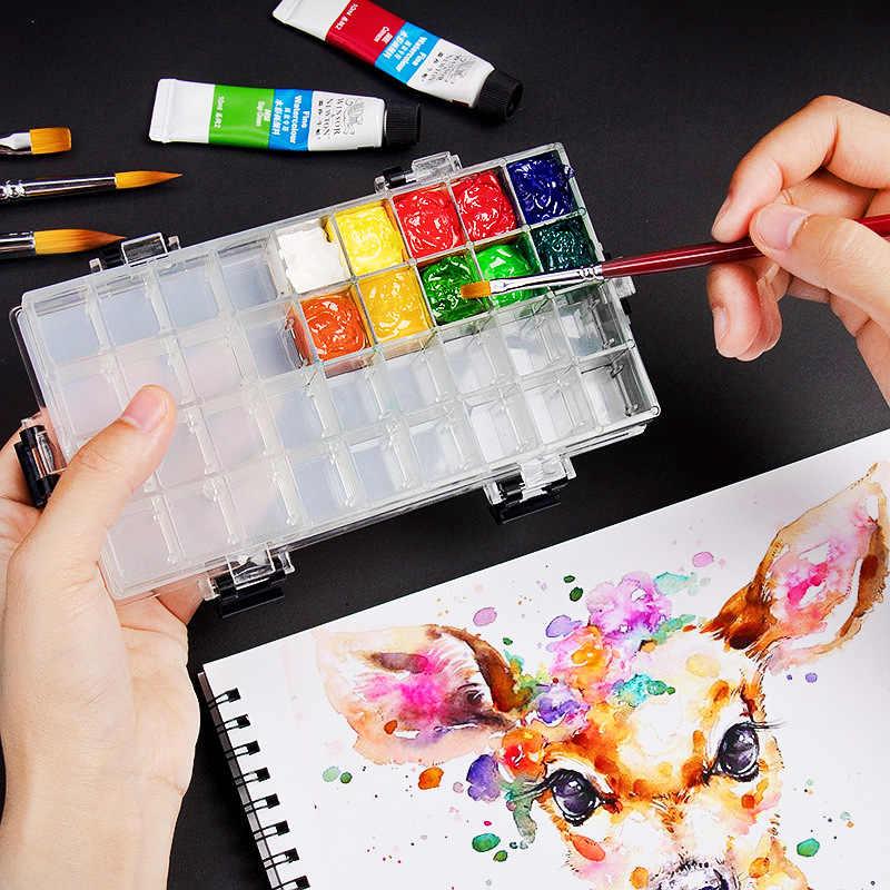 Palette De Peinture Acrylique Gouache A 24 Grilles Etanche A L Humidite Plateau De Rangement Pour Peinture Fournitures De Dessin Artistique Aliexpress