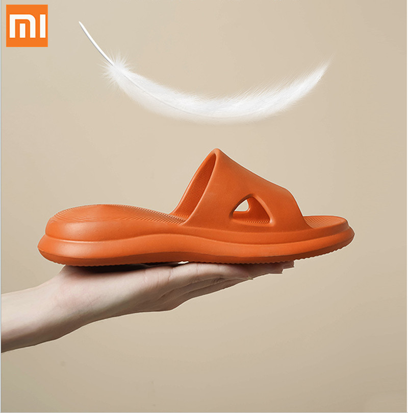 XiaoMi Mijia Slippers Non-slip Dirt-resistant Deodorant Soft Bottom Air Cushion Sandal Slippers For Smart Home Slippers Dropship(China)