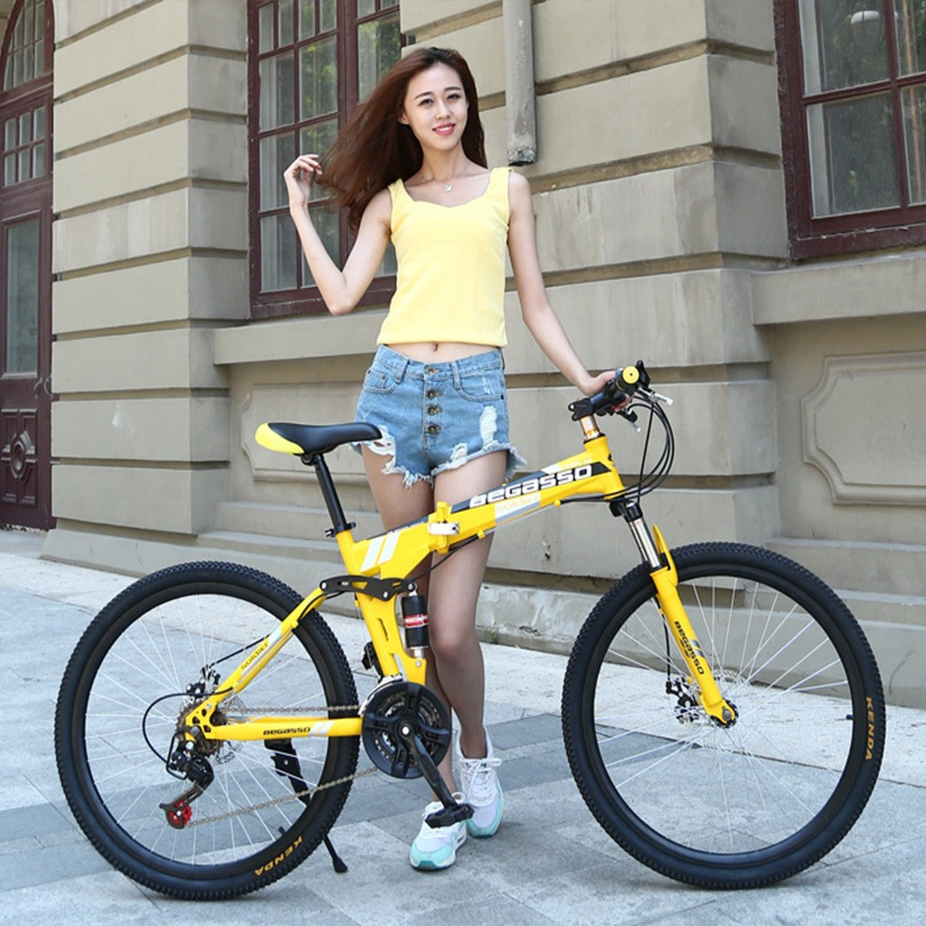 #H40  Folding Mountain Bike Variable Speed Bicycle 26 Inch Adult Men And Women Bike High Quality Mountain Bicycle Drop Shipping