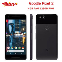 Original Google Pixel 2 Entsperrt 5.0 ''zoll Octa Core Einzelne SIM 4G LTE Android handy 4GB RAM 128GB ROM smartphone