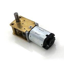 Миниатюрный червячный редуктор N20, металлическая шестерня с большим крутящим моментом 90 °, 15 об/мин, 30 об/мин, 60 об/мин, 120 об/мин, 3 в/6 в/12 В пост...