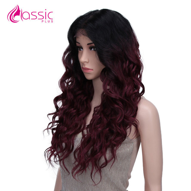 Фото классический плюс 13*4 синтетический кружевной парик для черных цена