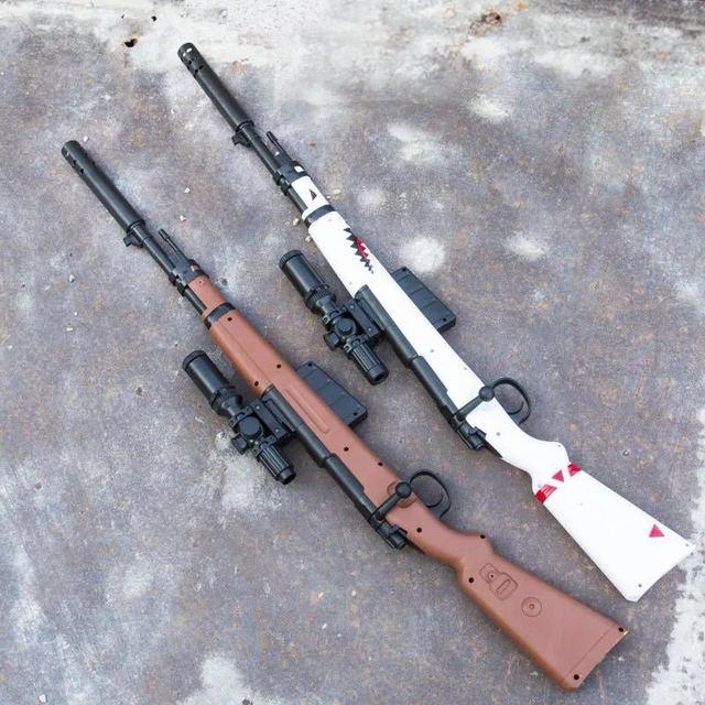 Le Hui 98K Water Gun Jedi Model Survival Sniper Rifle, Barrett-Emission 8 Eight Times Mirror Manual Toy Gun