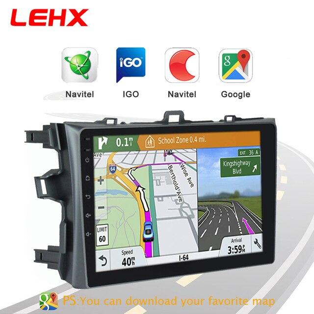 LEHX samochód Android 8.1 2Din Radio samochodowy odtwarzacz multimedialny dla Toyota Corolla E140 / 150 2006 2007-2009 2010 2011 2012 2013 2din dvd