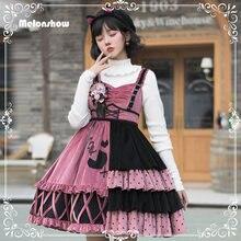 Melonshow милое платье в стиле «Лолита» размера плюс kawaii