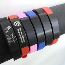 Персонализированный резиновый силиконовый Браслет ID детский браслет регулируемый скользящий пользовательское имя для детей женщин мужчин и мальчиков