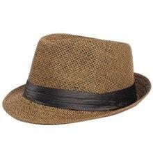Summer Women Vacation Trilby  Hat Unisex Men Straw Lover Gangster Cap NS
