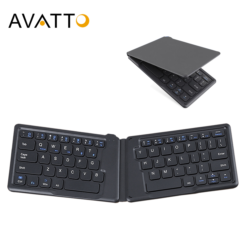 AVATTO A20 Portable Mini Folding Keyboard, Traval Bluetooth Foldable Wireless Keypad For Iphone,Android Phone,Tablet,ipad,PC
