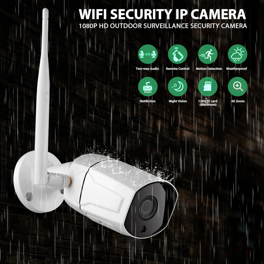 WANSCAM K23 Smart IP Camera 1080P LED Infrared Night Vision WiFi APP Remote Control Waterproof Surveillance Camera 4X Zoom
