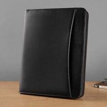 A4 بولي leather الجلود مانيلا العمل مدير الأعمال مجلد ملفات منظم مؤتمر اتفاق المجلدات بالطبع محفظة اللوازم المكتبية
