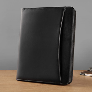 Image 2 - A4 비즈니스 관리자 파일 빌 문서 폴더 주최자 지퍼 서류 가방 외부 가방으로 회의 계약을위한 padfolio