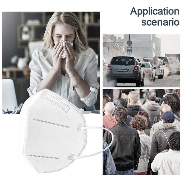 N95 Face Mask Anti Dust PM2.5 Anti Fog Haze Efficiency Electrostatic Respirator Double Breather Valve Mask Washable Reusable flu 4