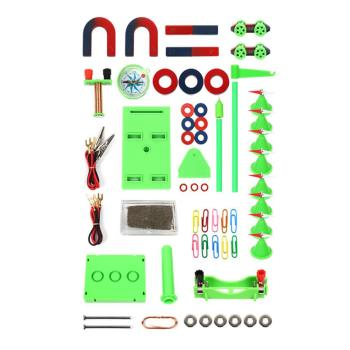 Early education Kids Physics Science Toys DIY Magnet Bar Ring Horseshoe Car Compass Science Experiment Tool Physics Toy with Box flashlight lab toy education series physics generator children experiment circuit teaching science projects for kids stem toys