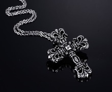 titanium steel cross necklace restoring ancient ways men domineering pendant hip-hop Europe and the United States цена 2017