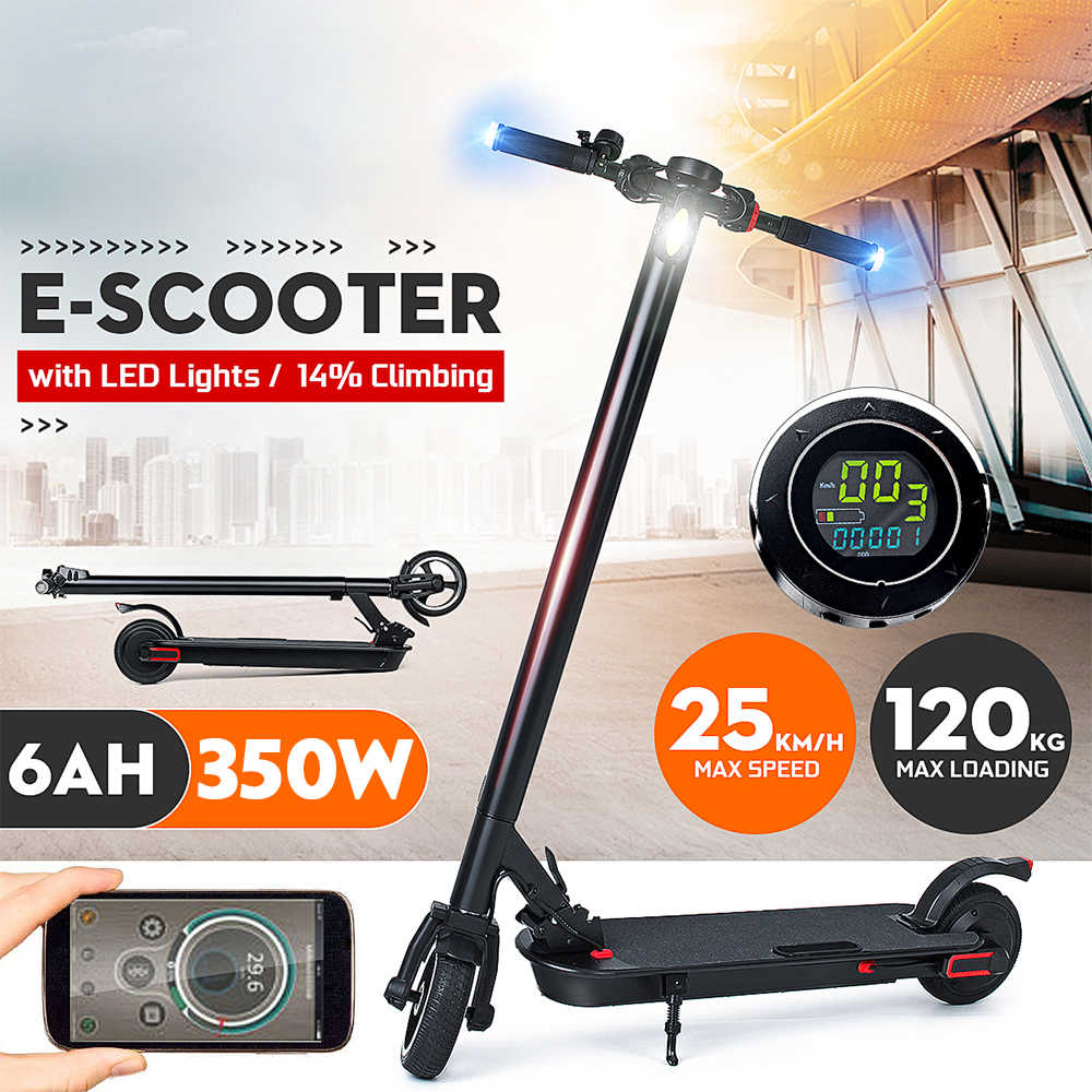 New Adult Electric Scooter Bike Smart Folding Electric Long Board Hover Board Skateboard Electric Bicycle With LED Light 2 Wheel