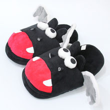 Bat doll slippers warm shoes animation cotton shoes half pack with comfortable soft slippers(China)