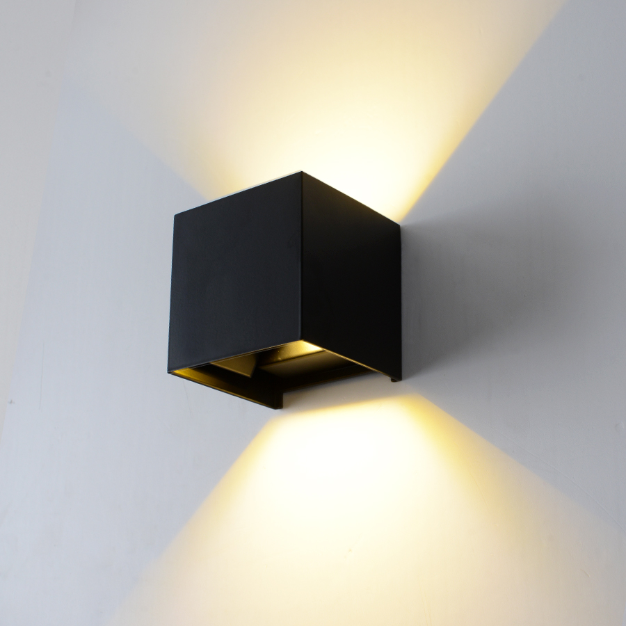 Adjustable 6W LED Wall Light Indoor & Outdoor Aluminum Wall Sconce Surface Mounted Cube LED Wall Lamp Garden Porch Light