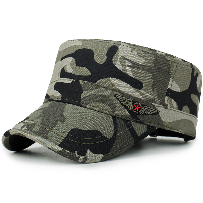Men Women Military Hat Fashion Camouflage Solid Color Army Military Cap Adjustable Sun Hats Outdoor Sports Casual Military Hats