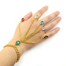 Avengers Infinity War Gauntlet Slave Hand Finger Bracelet Stones Handchain Thanos Cosplay Jewelry Accessories