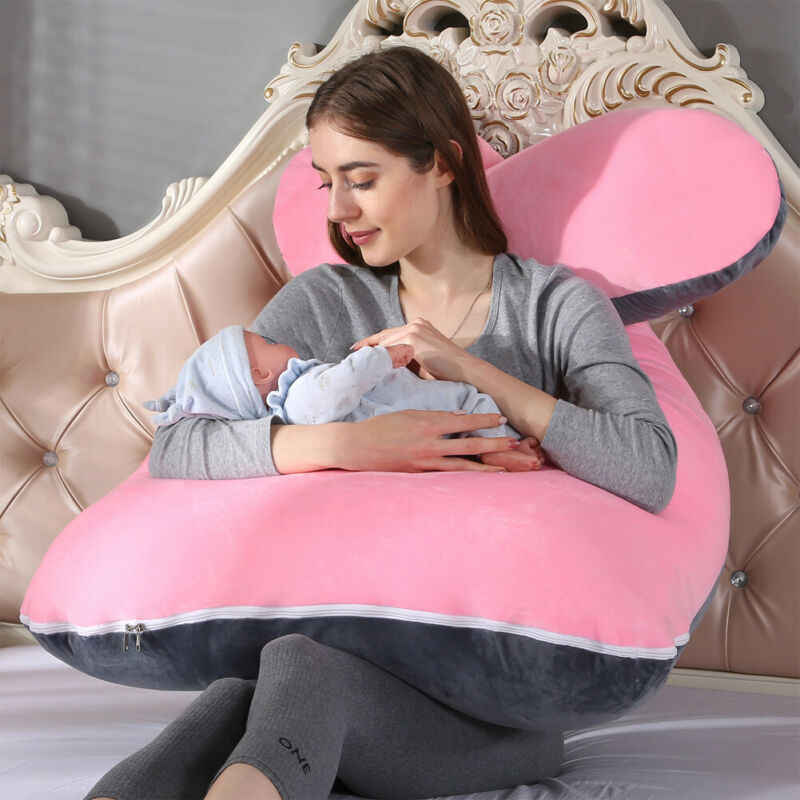 Gravidez travesseiro lado sleeper grávida mulher cama de corpo inteiro u-forma almofada longo sono multifuncional travesseiros para grávidas