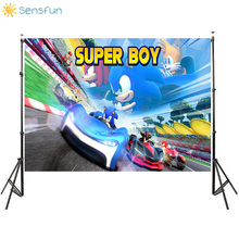Sensfun Super Boy Photography Backdrops Cartoon Children Birthday Party Background Customize backgrounds for photo Studio