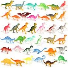 10 pçs/lote mini dinossauro modelo crianças brinquedos educativos pequena simulação animais figuras crianças brinquedos para o presente do menino