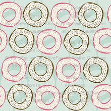 doughnut polyester cotton fabric for sewing dress shirt home decor pillow case background baby clothing bib material soft cloth(China)