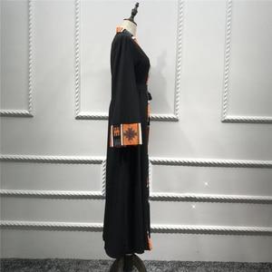 Image 2 - Dubai Dài Hồi Giáo Hồi Giáo Quần Áo Abaya Đầm Nữ Cột Dây Caftan Dài Áo Dây Hijab Đầm Lớn Đầm Dài Áo Dây áo Khoác Kimono Jubah