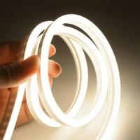 6mm luz de neón estrecha 12V tira de LED SMD 2835 120 LEDs/M tubo de cuerda Flexible resistente al agua para DIY Navidad decoración de vacaciones Luz