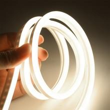 6 мм узкие Неон светильник 12V Светодиодные ленты SMD 2835 120 светодиодный s/М гибкий led Rope трубки Водонепроницаемый набор «сделай сам» для рождественских праздников украшения светильник
