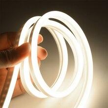 6mm צר ניאון אור 12V LED רצועת SMD 2835 120 נוריות/M גמיש חבל צינור עמיד למים עבור DIY חג מולד קישוט אור