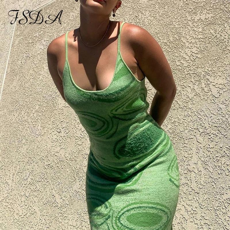FSDA 2021 Print Knit Bodycon Dress Women in Accra Ghana 1
