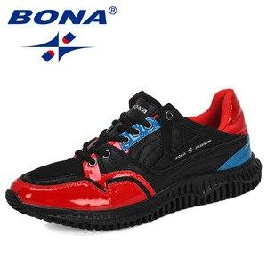 Image 2 - BONA 2019 새로운 디자이너 남자 신발 편안한 야외 캐주얼 남자 신발 레이스 업 쿠션 스 니 커 즈 남성 레저 신발 유행