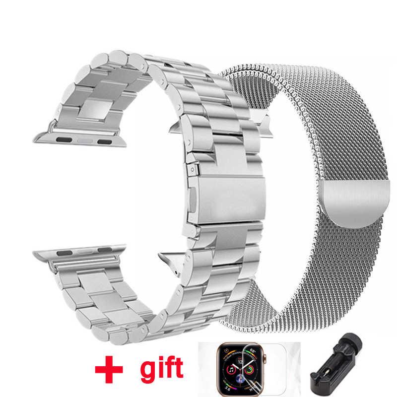 Pulsera Milanese Loop correa de reloj Apple watch banda 4 3 42mm 38mm iWatch banda 44 mm 40mm de acero inoxidable pulsera de acero Apple watch Accesorios