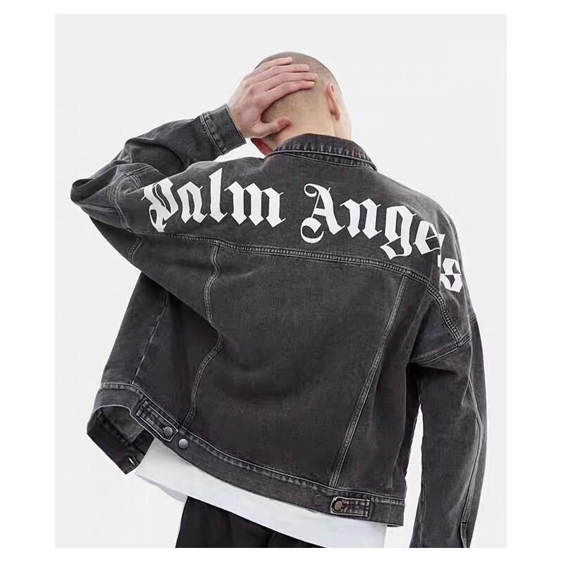 2019ss Palm Angels Denim veste 1:1 Palm Angels high street hip hop manteaux kanye west Palm Angels vestes bomber veste femmes hommes