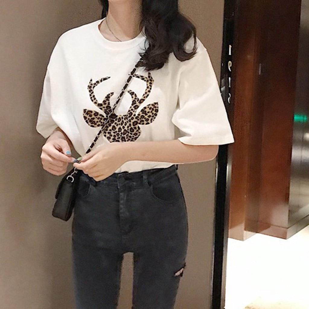 Printing O-neck Short Sleeve Tshirt Tops