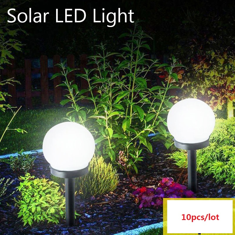 10 Pcs/lot Waterproof Solar Garden Light LED Bulb Outdoor Camping Garden Lawn Light Home Yard Pathway Landscape Night Lamp