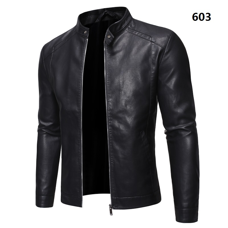 Spring Autumn Biker Leather Jacket Men Fur Coat Motorcycle PU Casual Slim Fit Outwear Male Black Clothing Plus Size M-5XL ,GA536