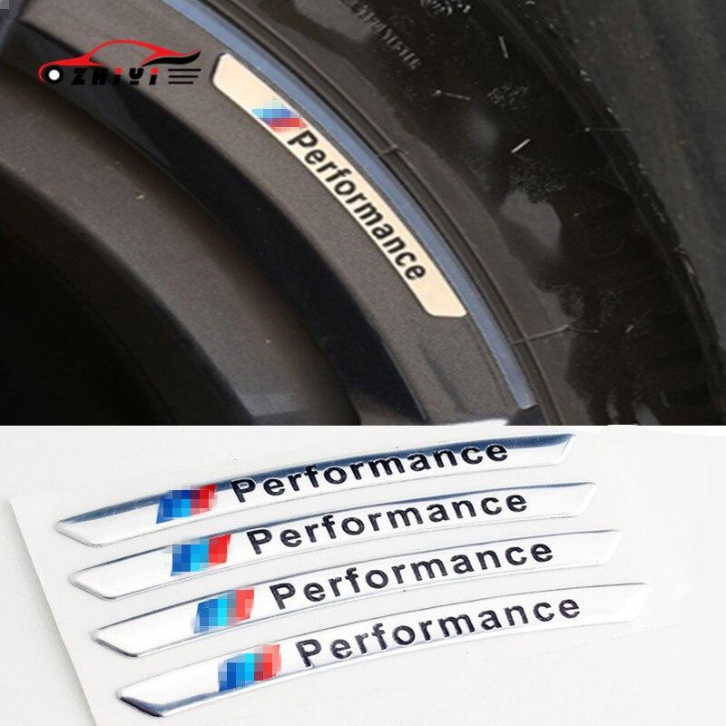 Wheel Car Sticker Is Suitable For BMW Wheel Sticker X1234561234567 Series Performance Aluminum Wheel Standard Steel Ring Sticker