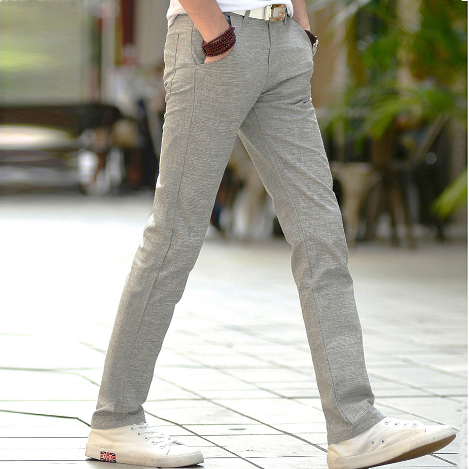 Summer Thin Men Linen Cotton Slacks Men's Trousers Business Casual Straight Men Long Suit Pants New High Quality Pontalon Homme