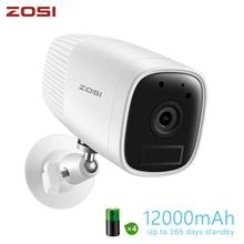 ZOSI 1080P Security IP Wifi Video Led Cam Intercom CCTV Camera Rechargeable Battery with Detector Sensor USB Plug in Door