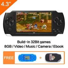 Бесплатная доставка портативная игровая консоль 43 дюйма 8 ГБ