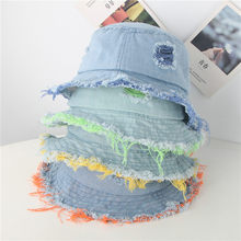 Baby Cap Fashion Children Fringe Cowboy Big Edge Sunscreen Fisherman Hat Cap Newborn Photography Props 2020 Hot Sale Sunhat(China)