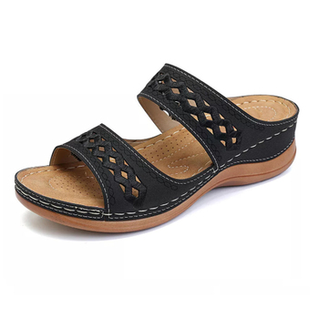 Sewing thread Sandals Summer Women Slippers Open Toe Platform Casual Shoes Ladies Outdoor Beach Flip Flops Female Slides c909 2