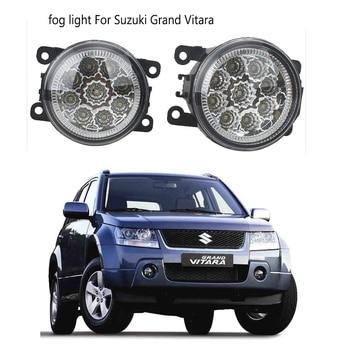 2pcs LED Fog Lamps For Suzuki Grand Vitara 2 JT 2005 2006 2007 2008 2009 2010 2011-2015 Car styling CCC E2 3000-1WK DRL Lights