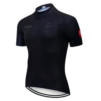 Koszulka kolarska STRAVA 2021 letnie wyścigi odzież rowerowa koszulka rowerowa Ropa Ciclismo z krótkim rękawem mtb Maillot Ciclismo tanie i dobre opinie FUALRNY CN (pochodzenie) POLIESTER spandex Wiskoza SHORT summer Zamek na całej długości Pasuje na mniejsze stopy niezwykle Proszę sprawdzić informacje o rozmiarach ze sklepu