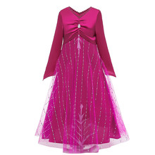 New children's girls princess dress Halloween role-playing costume winter long-sleeved children's clothing girls 2-12 years(China)