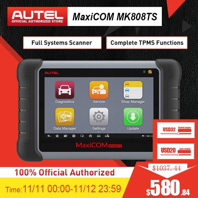 Autel MaxiCheck MK808TS MX808TS OBD2 אבחון כלי ODB2 סורק רכב קוד קורא TPMS מתכנת IMMO DPF PK MK808 TS608